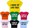 Girls Crop Top Kids New Party T-Shirt Pink Yellow Black 5 6 7 8 9 10 11 12 13 Yr