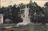 uralte AK, Chemnitz, Christusstatue a. d. Friedhof 1908