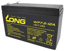 Kung long VDS wp7.2-12, 12 V, 7,2 Ah plomb AGM Batterie 4,8 mm FASTON