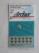 Archer 1/35 British 79th Armoured Division (& Canadian) Formation Signs AR35124
