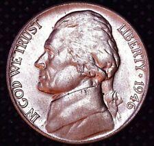 1946-P Jefferson Nickel HI GRADE Partial Full Steps Philadelphia Mint #113