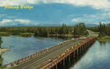 Yellowstone National Park Fishing Bridge Billings MT Fishing Postcard