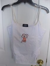 TONY STEWART #20 HOME DEPOT RACING LADIES TANK TOP WHITE SIZE LARGE NEW W/TAG