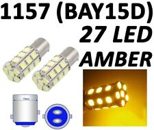 1157 BAY15D 27 SMD 5050 Amber Yellow Tail Turn Signal 27 LED Car Light Bulb Lamp