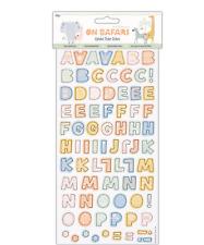 On Safari - Thicker Alphabet Stickers - 160pcs