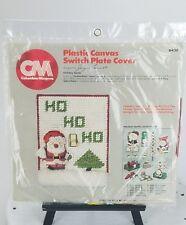 "Columbia-Minerva Plastic Canvas Switch Plate Cover ""Holiday Santa"" #8436"