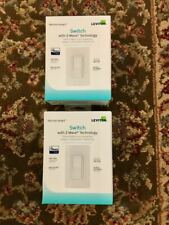 Two (2) Leviton Decora Dz15S-2Rw Smart Switch with Z-Wave Technology - White Nib