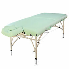 """Master Massage 30"""" inch Bel Air Lightweight Aluminum Portable Table Lily Green"""