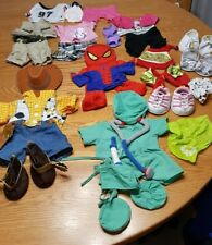 Build A Bear 3 Outfits Woody Spiderman Doctor Scrubs Minnie Mouse Safari Jester