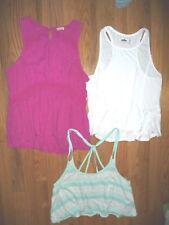 Lot 3 Hollister Cali Sleeveless tank tops blouses shirts Size M Womens Assorted