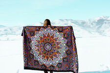 Twin Tapestry Throw Psychedelic Indian Wall Hanging Hippie Mandala Bedspread