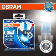 2x HB3 +50% 5000K MEGA WHITE OSRAM COOL BLUE ADVANCE Headlight Bulbs HIGH BEAM