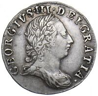 1772 MAUNDY THREEPENCE 3d - GEORGE III BRITISH SILVER COIN - V NICE