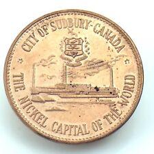 Canadian Centennial Numismatic Park Sudbury Ontario Nickel Capital Token H350