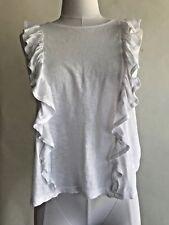 Sundry Ruffle Tank Teeshirt White 1