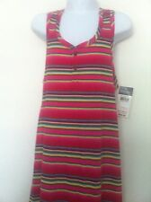 Ralph Lauren Girls Tank Maxi-Dress Pink Striped Size M (8-10) NWT