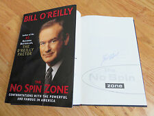 Political Commentator BILL O'REILLY signed THE NO SPIN ZONE 2001 1st Ed Book COA