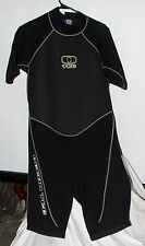 Ocean Tec Black Shorty Spring Weight Wet Suit Or Board Suit Size XL