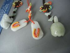 Good Luck Jade Charms Amulets of 3