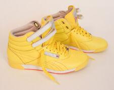 REEBOK Freestyle Hi Brights Yellow White 953311 Women's Classic Size 8.5