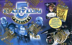 Babylon 5 Profiles Trading Card Box 36 CT  Fleer Skybox 1999