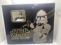STAR WARS Gentle Giant Blue Clone Trooper Deluxe Mini Bust W/ COA #14237/15000