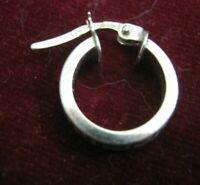 "ONE 18K White Gold 1/2"" Cuff Earring w/ Laser Cut Greek Key Design, Italy HAMI"