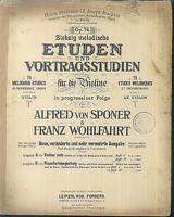 Alfred v. Sponer & Franz Wohlfahrt : 70 melodische Etüden und Vortragsstudien