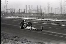 Front Engine Dragster - California - Vintage B&W Drag Racing Negative