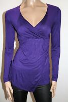 TARGET Brand Purple Long Sleeve Wrap Style Blouse Top Size 8 BNWT #RD05
