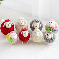 Cute Christmas Desktop Ornament Wool Felt  Mini Sheep Decoration Crafts Lamb UK