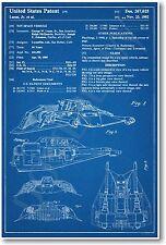 Star Wars Snow Speeder Patent - NEW Invention Patent Movie Art POSTER