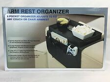 6 Pocket ArmRest Organizer - Adjusts To Fit Most Couch Chair Sofa Arm Rest NEW