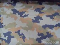 Estampado Poliamida Esloveno Ejército Militar Camuflaje Material 90cm Ancho