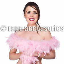 PINK FEATHER BOA LENGTH 1.5m GIRLS NIGHT OUT PINK FEATHERS BOA HEN STAG PARTY