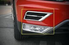 For VW Tiguan 2017-2020 ABS Chrome Front Upper+Bottom Fog Light Cover Trim 4pcs