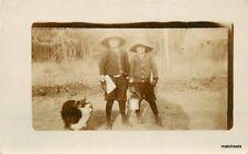 c1906 Boys Hats Bucket Cat Book Knickerbockers RPPC Real Photo