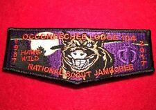 2017 Occoneechee Lodge 104 National Scout Jamboree Purple Delegate Flap 802330 A