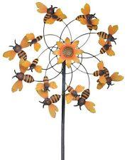 Sunjoy Bumblebee Wind Catcher Metal Spinner Windmill Yard Landscaping Garden