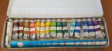 Guitar Watercolor Paint Tin Vintage Tubes Art Design Staging Prop