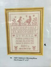 New listing Counted Cross Stitch Kit Children's Blessing /rose - Linen