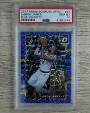 2017 Donruss Optic - #27 LeBron James - Blue Velocity - PSA 10 GEM MINT