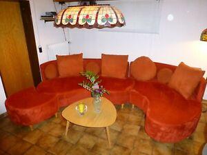 SCHICKE Wohnlandschaft Sofa in ROT mit oder ohne Tisch *** TOP !!