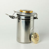 Stainless Steel Cigar Humidor Pipe Tobacco Tin Can with Hygrometer & Humidifier