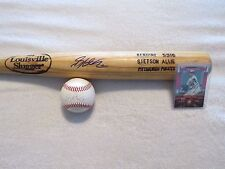 STETSON ALLIE~BASEBALL~BAT~BALL~CARD~PLAYER~GAME~USED~SIGNED~AUTO~PIRATES