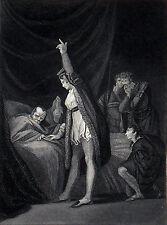 ANGLETERRE: la mort du cardinal BEAUFORT (1447) - Gravure du 19e siècle