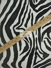 "VINYL FAUX FAKE LEATHER PLEATHER EMBOSSED ZEBRA FABRIC - White/Black - 54"" WIDTH"