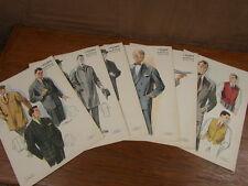 PLANCHES MODE FASHION : x6 L HOMME MAITRE TAILLEUR Printemps-été 1959 DARROUX