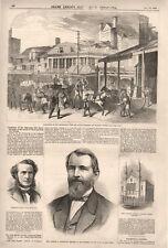 Landmarks of the Metropolis  -  Old Dutch Buildings on Chatham Street  -   1868