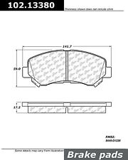 Centric Parts 102.13380 Front Semi Metallic Brake Pads